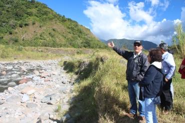 Río Chiriquí Viejo, Paso Ancho, abajo del sitio de presa del Proyecto HIdroeléctrico Hidro Power Paso Ancho.